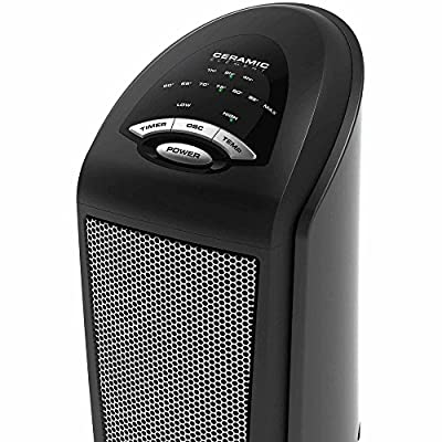 Lasko Ceramic Space Tower Electric Heater Fan with Remote Control