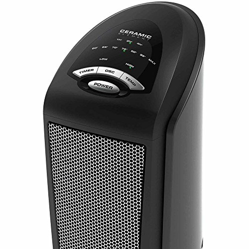 Lasko Ceramic Space Tower Electric Heater Fan with Remote Control (Gas Ir Heater compare prices)