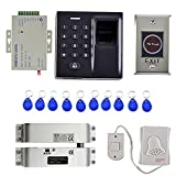 MagiDeal Universal 500 Fingerprint Password Door Access Control Security System 10Keys Card Smart Lock Work Off-Line
