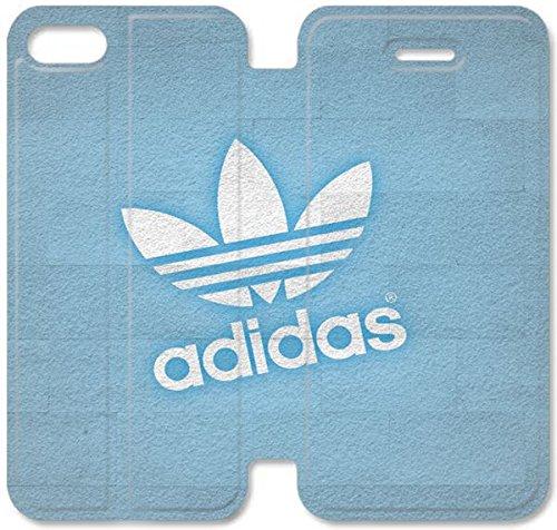 Flip étui en cuir PU Stand pour Coque iPhone 5 5S, 5 cas de téléphone cellulaire 5S Bricolage Adidas Sport Logo Leather Coque Case U6O8LV Retour Conception Coque iPhone
