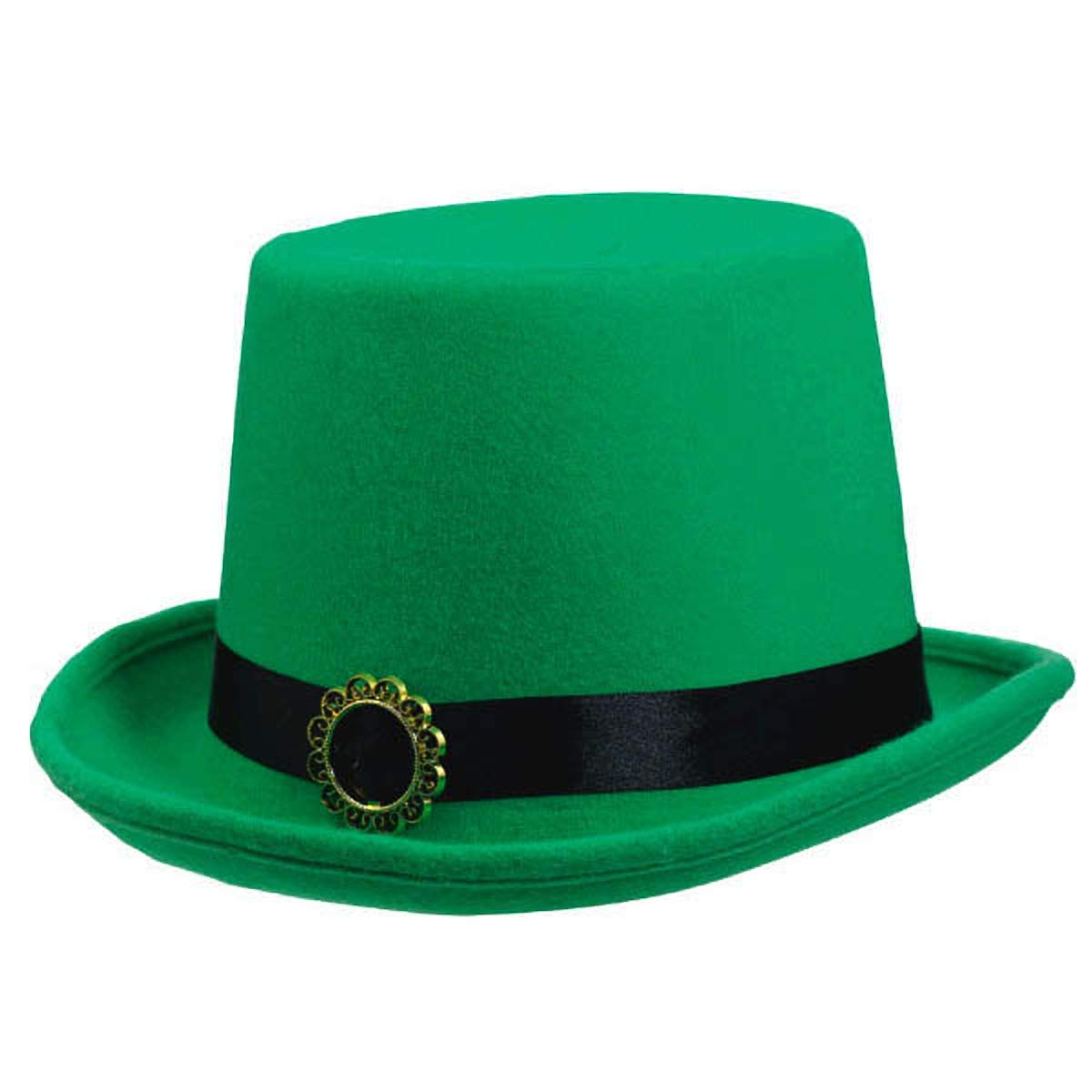 Patricks Day Green Fabric Top Hat Party Accessory I 6 Ct Amscan 255875 St