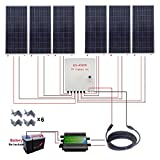 ECO-WORTHY 1000W 1KW Off Grid Solar Power System: 6pcs 160W Poly Solar Panels+45A Charge Controller+MC4 Solar Cable+Solar Combiner Box+Solar Panel Mounting Brackets