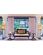 GXCM Outdoor Curtain Aluminum Grommet Top Waterproof Thermal Insulated Drapery Patio Curtains (1 Panel)