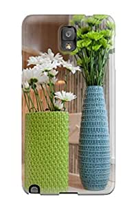 Hot Style VfePGDR4211KnpZr Protective Case Cover For Galaxynote 3(green And Blue Vases In Kitchen)