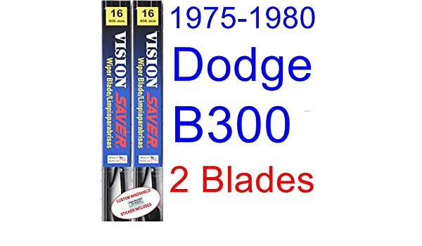 Amazon.com: 1975-1980 Dodge B300 Replacement Wiper Blade Set/Kit (Set of 2 Blades) (Saver Automotive Products-Vision Saver) (1976,1977,1978,1979): ...