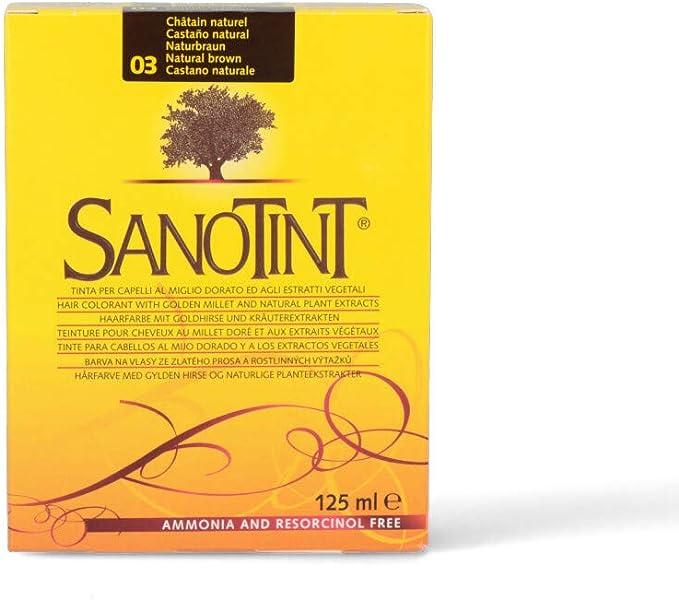 SANOTINT Tinte clásico color 03 castaño natural – 2 paquetes ...