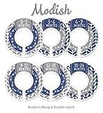 Modish Labels Baby Nursery Closet Dividers, Closet Organizers, Nursery Decor, Baby Boy, Woodland, Arrow, Tribal, Navy Blue, Grey