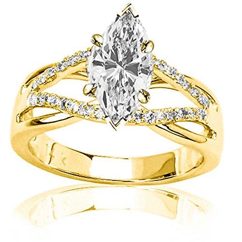 0.98 Ct Marquise Diamond - 8
