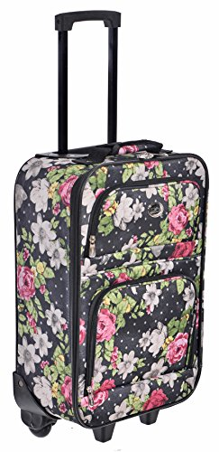 "Jetstream 18"" Carry On Suitcase Floral Polka Dots Print"