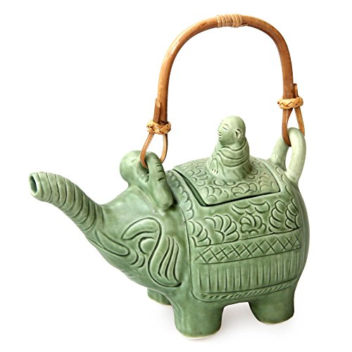 NOVICA Karma Buddha and The Jade Elephant