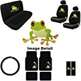 15PC Green Frog Shield Auto Accessories Interior Combo Kit Gift Set