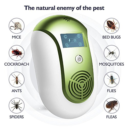 FHLove 2018 Ultrasonic Pest Repeller-Electronic Insect Killer Pest Control, Plug In Home Indoor and Outdoor Best Repellent for Rodents Mice Rats Squirrels Bugs Roaches Spiders Fleas Ants Mosquitos