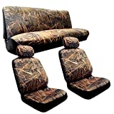 camouflage seat cover for cars - Muddy Water - Camo Seat Covers - 2 Front Seats - Rear Bench - Duck Hunting Camouflage