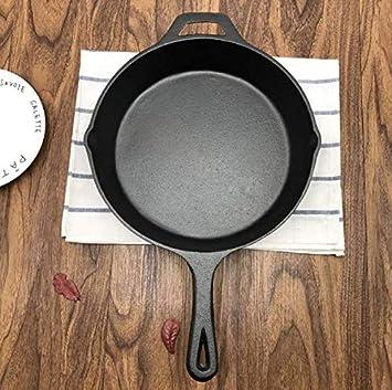 Ashnna - Skillet de hierro fundido preestacionado, de la marca Ashnna (10,6 pulgadas): Amazon.es: Hogar