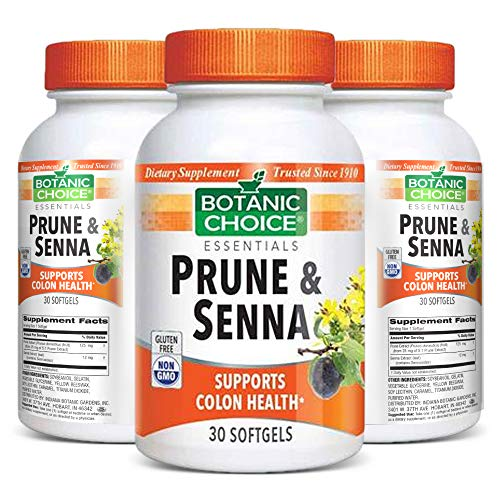 Botanic Choice Prune and Senna – Adult Daily Supplement – Delivers Nutrients and Natural Fiber Supports Proper Digestive Function Promotes Colon and Gastrointestinal Health