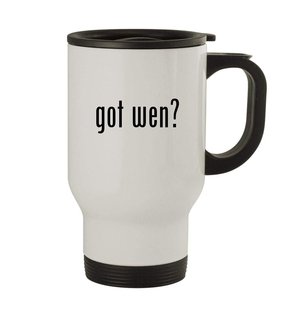 got wen? - 14oz Sturdy Stainless Steel Travel Mug, White