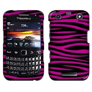 Cerhinu Fincibo (TM) Zebra Hard Crystal Plastic Protector Snap-On Cover Case For Blackberry Curve 9370 9350 9360 - Black...