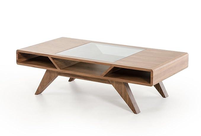 Amazon.com: Nova Domus Soria moderno Nogal mesa de centro ...
