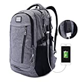"""Water Resistant Multipurpose Laptop Backpack Purse with Thick Padding Fits Under 17"""" Laptop for College Students Anti-theft Lightweight Travel Bag Hiking Rucksack Daypack with USB Charging Port, M1012"""