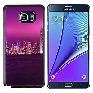 """Be-Star Único Patrón Plástico Duro Fundas Cover Cubre Hard Case Cover Para Samsung Galaxy Note5 / N920 ( Glow Ciudad Púrpura Cielo"""" )"""