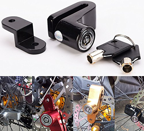 IZTOSS BLACK Mini Bicycle Disc Brake Lock with Two Keys - Po
