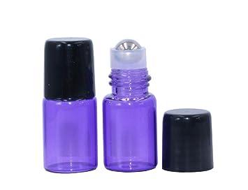 Amazon.com: Botellas de cristal moradas enrollables, 20 ...