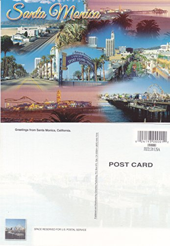 T-505 GREETINGS FROM SANTA MONICA, CALIFORNIA POST CARD T-505 from Hibiscus ()
