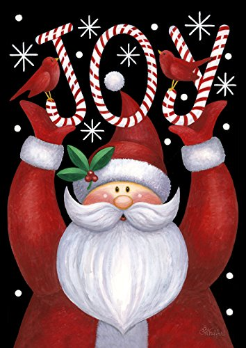 Toland Home Garden 109385 Santa Joy 28 x 40 Inch Decorative, House Flag (28