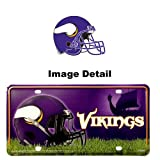 Minnesota Vikings NFL Team Logo Car Truck SUV Home Office Room Wall Officially Licensed License Plate Tag