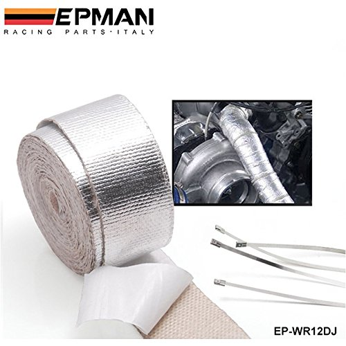 EPMAN Aluminum Reinforced Tape Adhesive Backed Heat Shield Resistant Wrap For All Intake pipe / Suction Kit