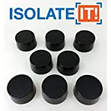 "Isolate It: Sorbothane Vibration Isolation Circular Disc Pad 0.5"" Thick 1"" Dia. 50 Duro - 8 Pack"