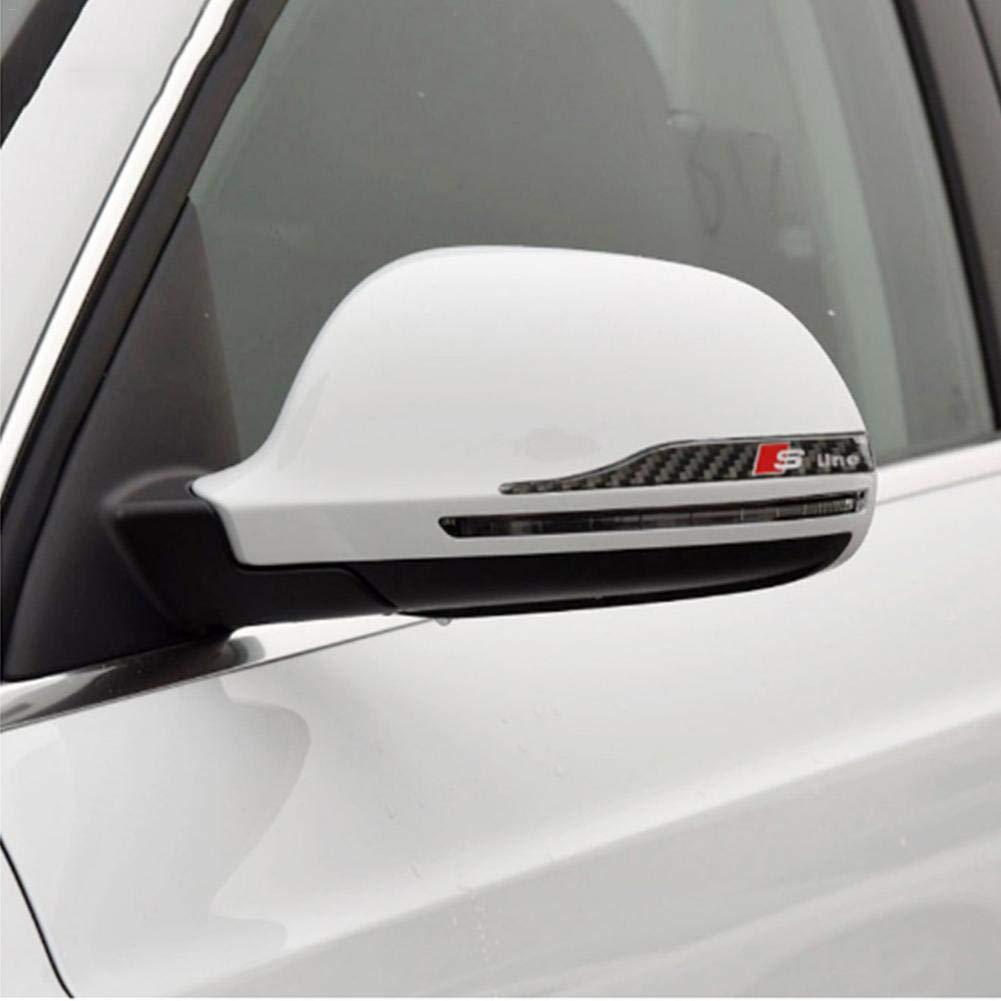 ATpart Auto Specchietto retrovisore Adesivo in fibra di carbonio Adesivi Decor FAI DA TE Car Body Sticker Per Audi A6L A4L Q5 A3 Q3