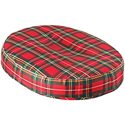 DMI Convoluted Foam Ring Donut Seat Cushion Pillow for Back Pain, Hemorrhoids and After Childbirth, 18 inch, Plaid