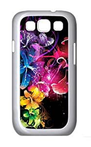 Colorful Custom Hard Back Case Samsung Galaxy S3 SIII I9300 Case Cover - Polycarbonate - White