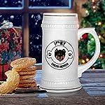 Custom Beer Mug I Love Paw My English Shepherd Dog Ceramic Drinking Glasses Beer Gifts White 18 OZ Design Only 13
