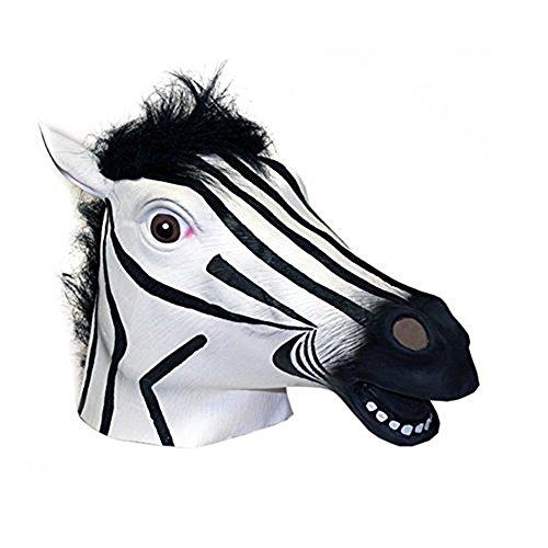 Zebra Latex Mask (GoLoveY Zebra Masks: Latex Rubber Animals mask)