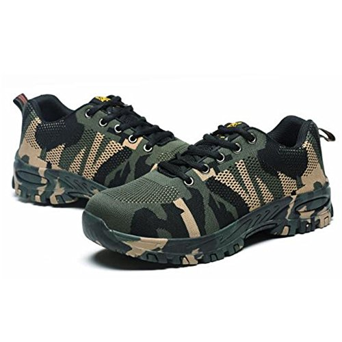 RuiSen Unisex Camouflage Labor Insurance Shoes, Work Safety Shoes Puncture Proof Safety Shoes Outdoor Shoes with Lace-up Breathable Wear-Resistant Anti-Slip (39/24.5cm) by RuiSen (Image #3)