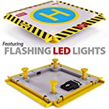 #4: Remote Control Helicopter Landing Pad - Complete Edition - Flashing LED Lights Installed - Suitable for RC Helicopters, Quadcopters, Drones, Syma Helicopters