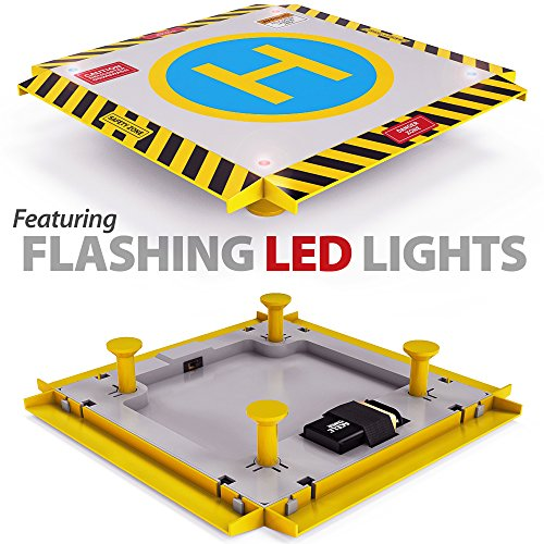 Eagle Pro Remote Control Helicopter Landing Pad - Complete Edition - Flashing LED Lights Installed - Suitable for RC Helicopters, Quadcopters, Drones, Syma - Heli Helicopter Rc