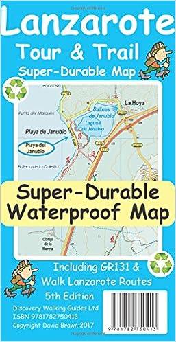 Lanzarote Tour Trail Super Durable Map Amazon De David Brawn