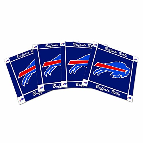 - Offically Licensed NFL Ceramic Coaster Set of 4 (Buffalo Bills)