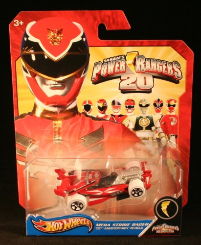 Hot Wheels Power Rangers MEGA STRIKE RACER 20th Anniversary Vehicle - Pink Power Racer