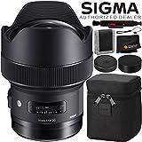 Sigma 14mm f/1.8 DG HSM Art Lens for Canon EF – 4PC Accessory Bundle