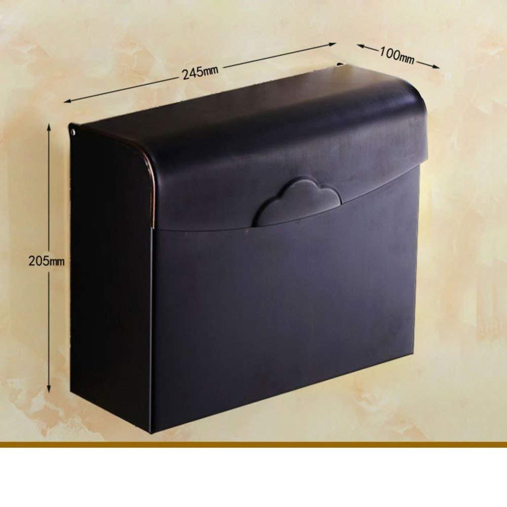 WSJJGAO Antique Tissue Box Toilet Toilet Paper Holder Toilet [Waterproof Hand Tray] Toilet Paper Holder Toilet Winding Machine-F