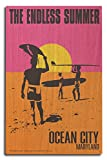 Ocean City, Maryland - The Endless Summer - Original Movie Poster (10x15 Wood Wall Sign, Wall Decor Ready to Hang)