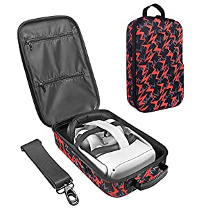 Best Epic Trends 51uuf3GbfgL._SS300_ Esimen Fashion Travel Case for Oculus Quest VR Gaming Headset and Controllers Accessories Carrying Bag (Orange)