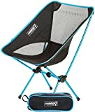 ONWEGO Ultralight Camping and Outdoor Chair - Lightweight, Premium Quality Aluminum Construction, Heavy Duty - Portable, Folding, Convenient (Blue)