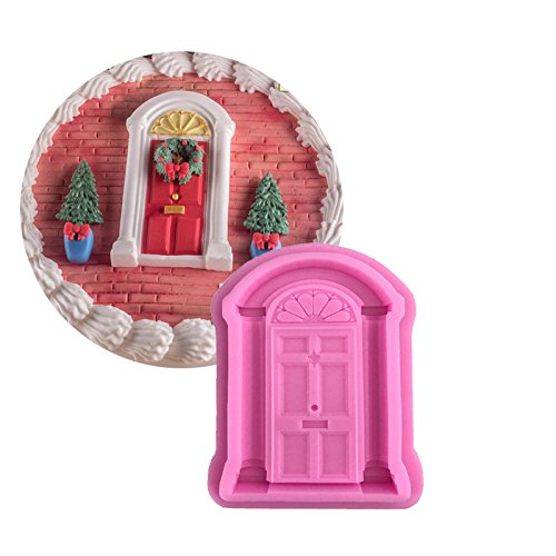 WYD 3D Vintage Fairy Garden Gnome Home Door Snail Silicone Chocolate Fondant Molds,Craft Polymer Clay Cake Decorating (Clay 1' Polymer)