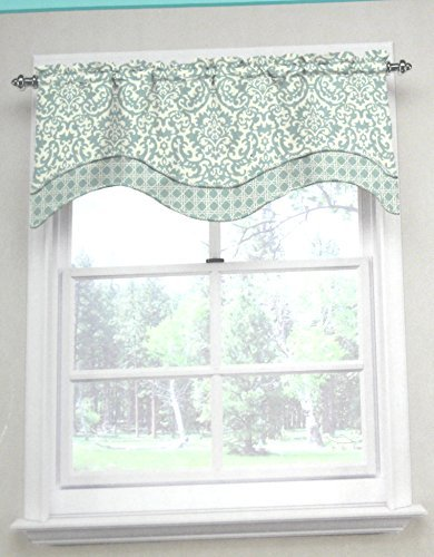 Waverly Traditions By Duncan Baroque Scroll Kristy Valance 52'' w X 16'' L Spa Blue