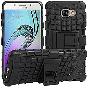 RKMOBILES Shock Absorption Hybrid Armor Protection Defender Back Cover Case for Samsung Galaxy C9 Pro,Black Mobile Phone Cases   Covers